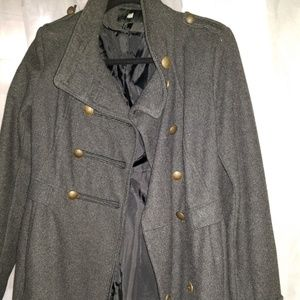 H&M WMN Military Double Breasted Pea Coat